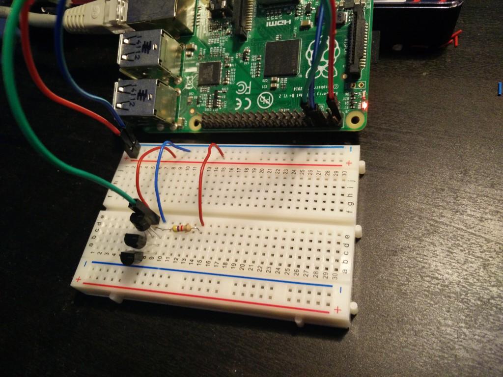 """Drei Temperatursensoren DS18B20 parallel an einer """"Sensorleitung"""""""