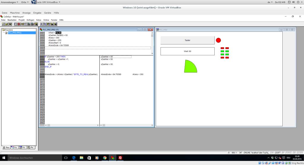 Webvisualisierung und ST-Programm in CoDeSys 2.3
