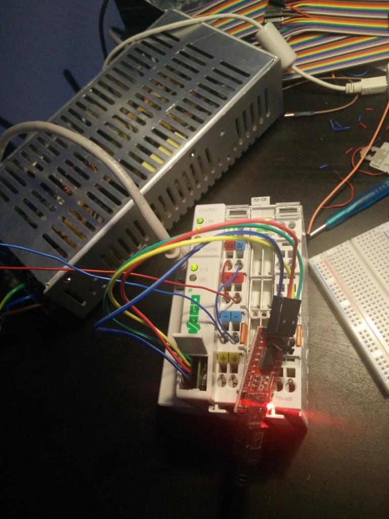 USB-zu-TTL-Converter FTDI FTD1232 am Service-Port einer Wago 750-841